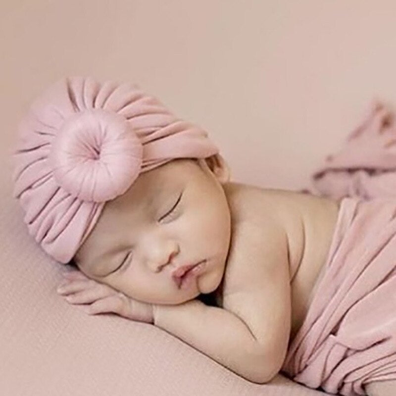 New 16-Color Children's Knotted Sleeve Cap Ins Hot Selling Baby Hat Newborn Supplies baby hats   baby hats newborn  baby turban