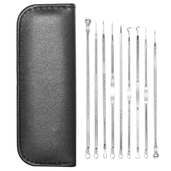 9 PCS /Set Blackhead Removal Needles Acne Pimple Blemish Treatments Extractor Remover Face Skin Care Tool Kit