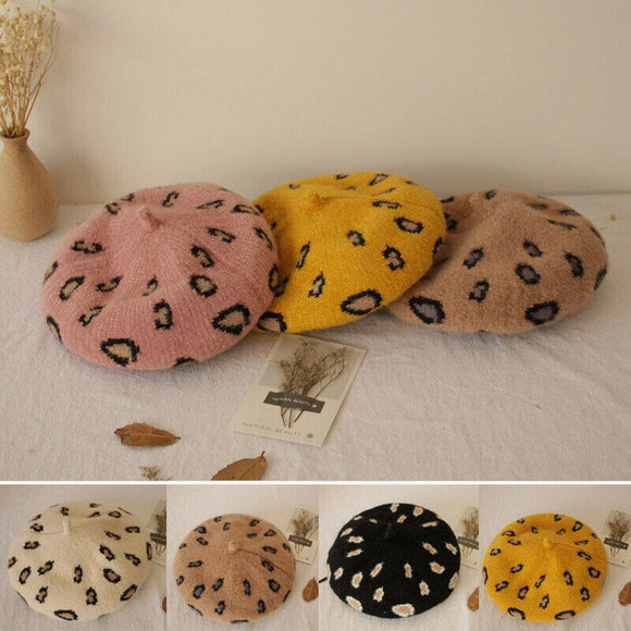 5Colors Cute Baby Girl Beret Hat Girls Wool Beanie Cap Winter Autumn Baby Child Painter Hats 2-5 Years
