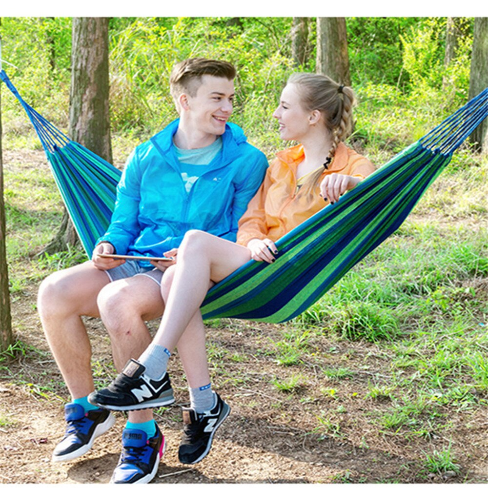 Toparchery Hammock 2 sizes hamac outdoor Leisure bed hanging bed double sleeping canvas swing hammock camping hunting 2 Color