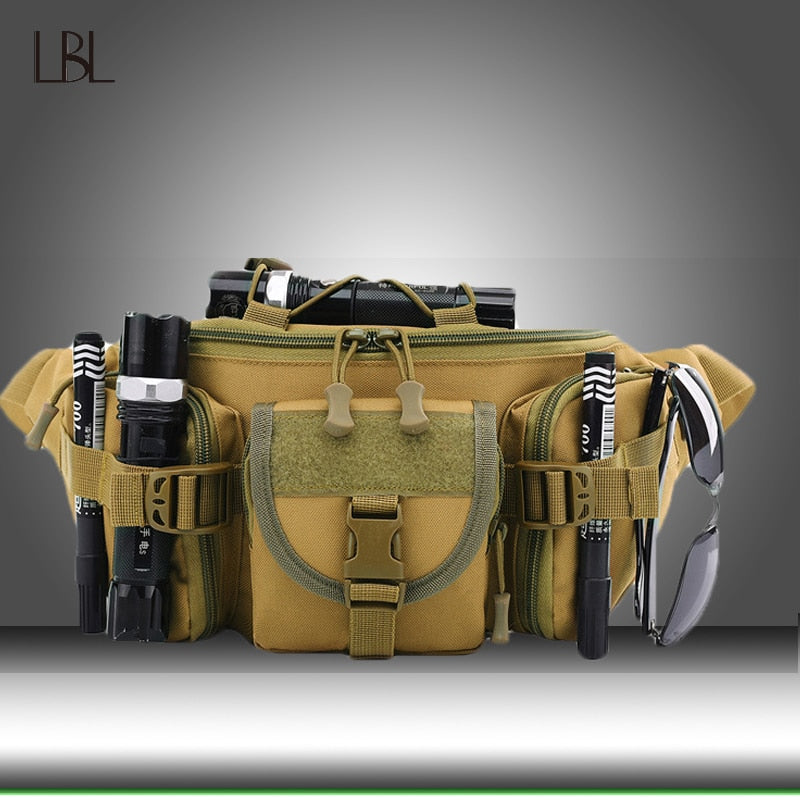 Utility Tactical Waist Pack Men Waist Military Bag Waterproof Outdoor Bag Cargo Hiking  Camping Waist Camouflage Belt Bags