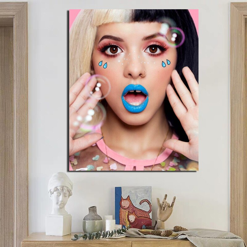 Pop Art Melanie Martinez Cuadros Canvas Painting Posters Prints Marble Wall Art Painting Decorative Picture Modern Home Decor