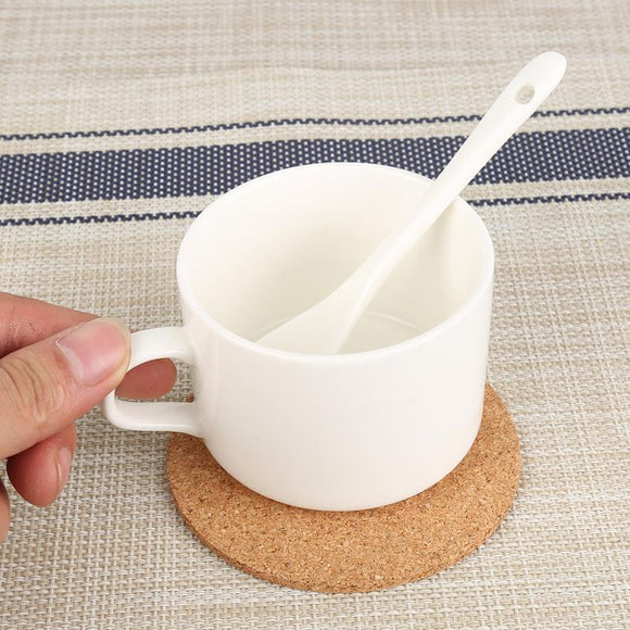 1/2/3pcs Natural Cork Coaster Heat Resistant Cup Mug Mat Dining Pads Coffee Tea Hot Drink Portable Tableware Kitchen Accessories