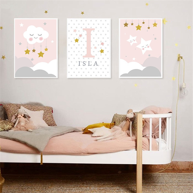 Teddy Cloud Baby Girl Non Personalised Novelty car Sign