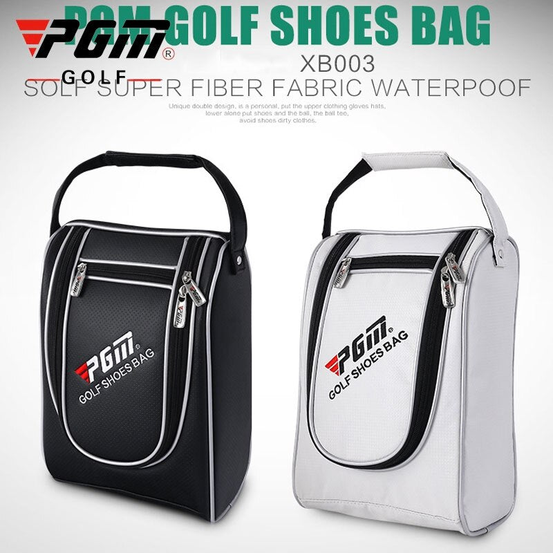 Pgm Golf Shoes Bags Pu Leather Waterproof Sport Bag Casual Large Capacity Golf Shoes Bag For Women And Men D0052