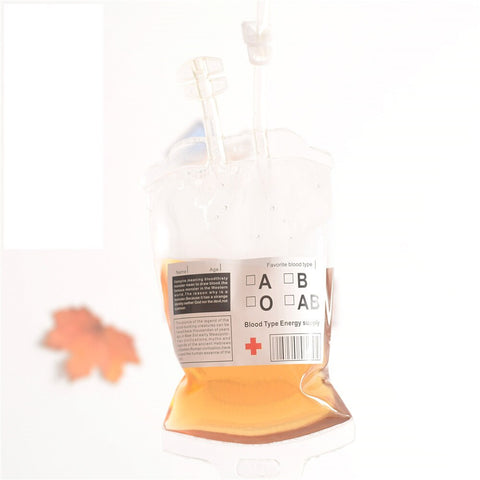 REUSABLE IV BLOOD BAGS HALLOWEEN PARTY HAUNTED HOUSE DRINK CONTAINER DECOR HOT