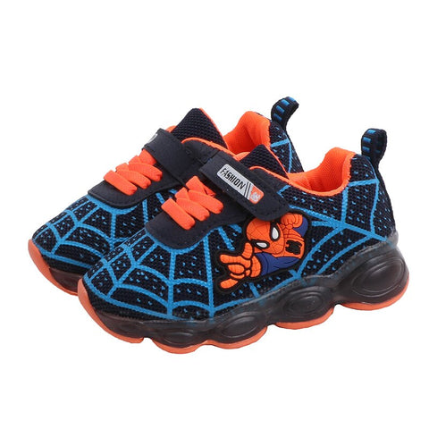 Kids Baby Boys Girls Embroidery Sport Running LED Shimmer Mesh Shoes Sneakers