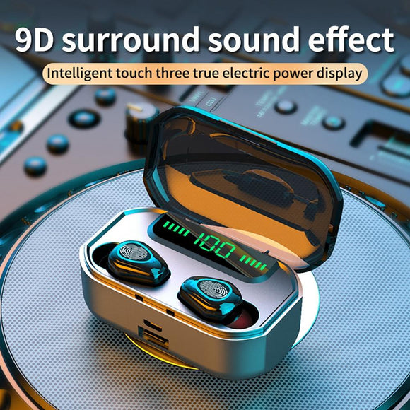 New Stereo Bluetooth Earphone Support Wireless Charging Touch Waterproof Music Gaming  Noise Cancel Headset For Iphone Xiaomi