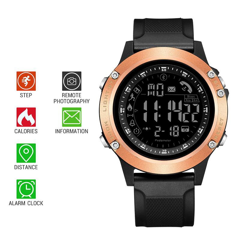 SANDA Fashion Smart Watch Multi-function Waterproof Electronic Clock Health Monitor Intelligent Reminder for IOS Android 5010