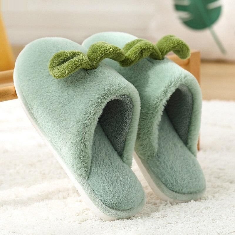 Slippers for Women Winter Soft Warm Plush Slippers Non-slip wear-resistant Home Slippers Cute Couple Shoes for female