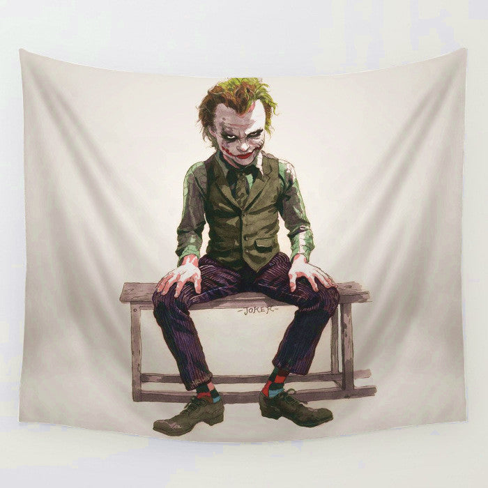Cartoon Suicid Joker Tapestry Mat Sofa Cover Wall Hanging Decor Tapestries Bedspread Beach Towel