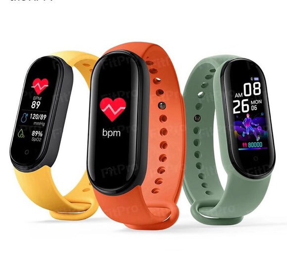 Women Men M5 Smart Band Wristbands Fitness Tracker Health Heart Rate Blood Pressure Monitor Bluetooth Sports Bracelet Smartband