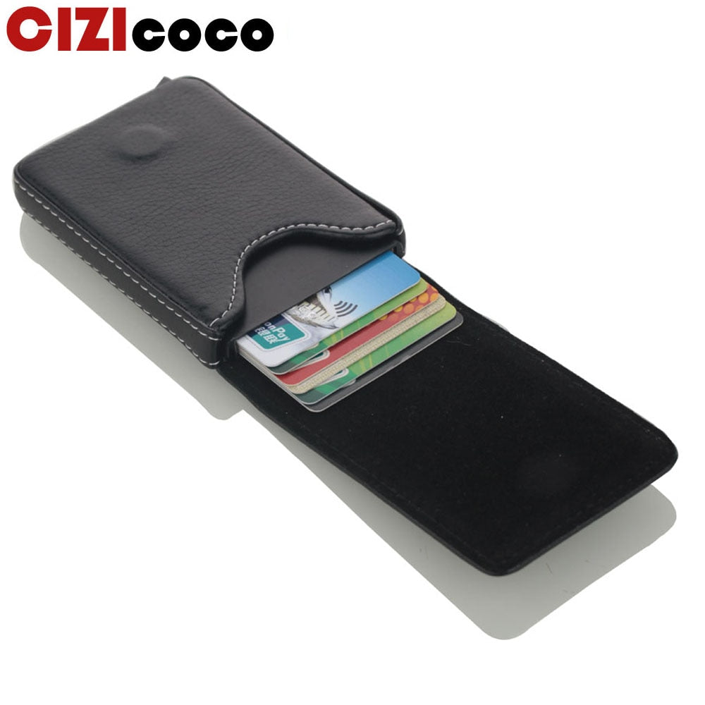 RFID Alligator Wallet Blocking Aluminum ID Credit Card Holder Twin Layer 5 Color