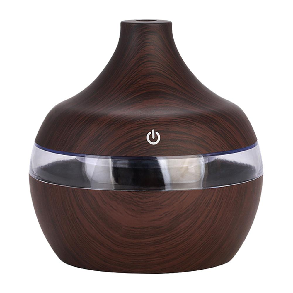 Spa Yoga Humidifier 7 Color Light USB Electric Aroma Air Diffuser Wood Ultrasonic Air Humidifier Essential Oil Aromatherapy