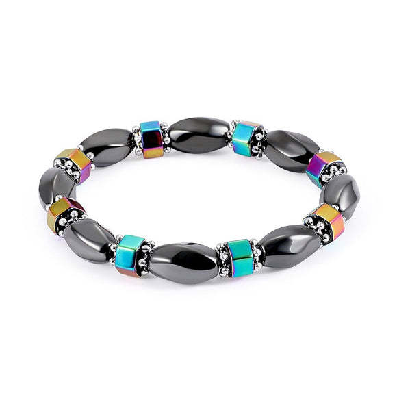 Charms Colorful Elastic Magnet Bracelet Slimming Health Men Bracelet Black Stone Tourmaline Magnetic Bracelets for Women