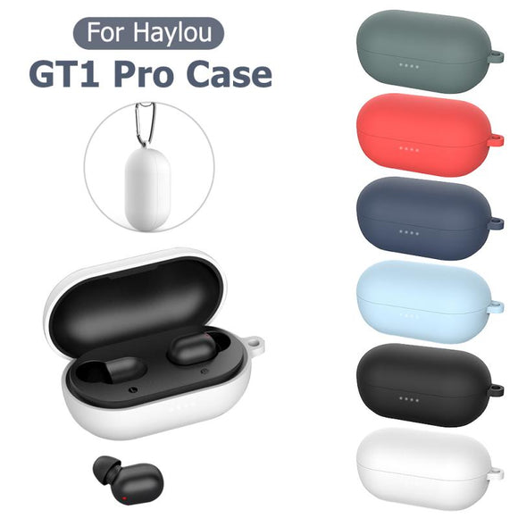 Silicone Earphone Case For Haylou GT1 Pro Headphones Cover TWS Bluetooth Earphone Wireless Headset Shell Earphone Accessories