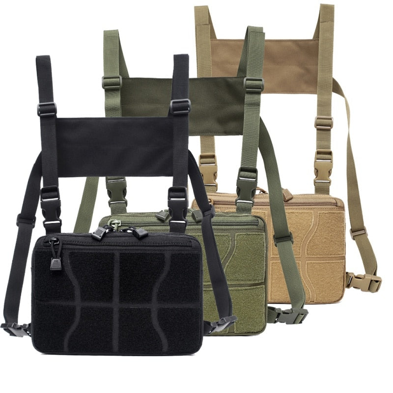 New Chest Bag Adjustable Tactical Chest Rig Shoulder Bag Waist Packs Chest Recon Bag Tools Pouch Outdoor Hunting Accessories