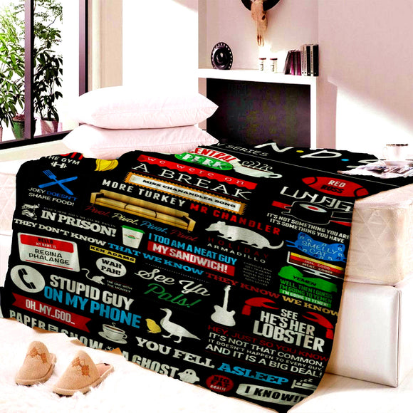 Friends Central Perk Blanket Child Mat Tapestry Soft Wall Bedspread Beach Towel Mat Blanket Table Beach Towel