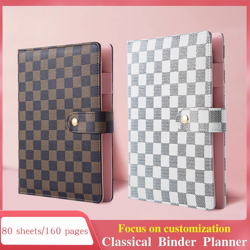 Amazon Hot selling A5 Designed Customized Gold ring binder agenda Journal Diary planner notebooks