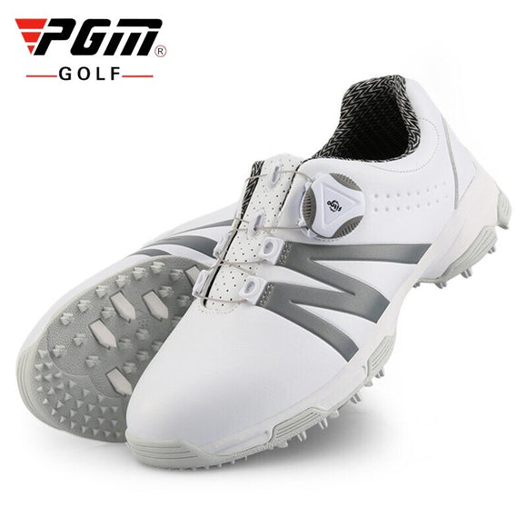 Pgm Women Soft Golf Shoes Waterproof Breathable Golf Sneakers Spikes Non-Slip Knob Buckle Shoeslace Sports Shoes D0844