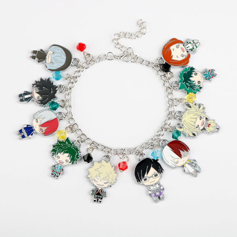 Cartoon Anime My Hero Academia Pendant Fashion Bracelet Jewelry Cute Bracelets Gift For Women Girl Kids Party Accessories