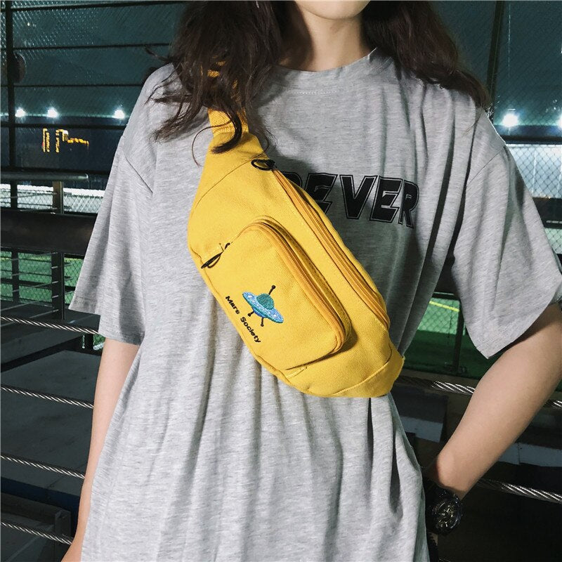 Trend Waist Bag Women's Belt Bags Chest Pack Cute Pattern Banana Bag Hip Package Unisex Shoulder Messenger Packs Bum Pack