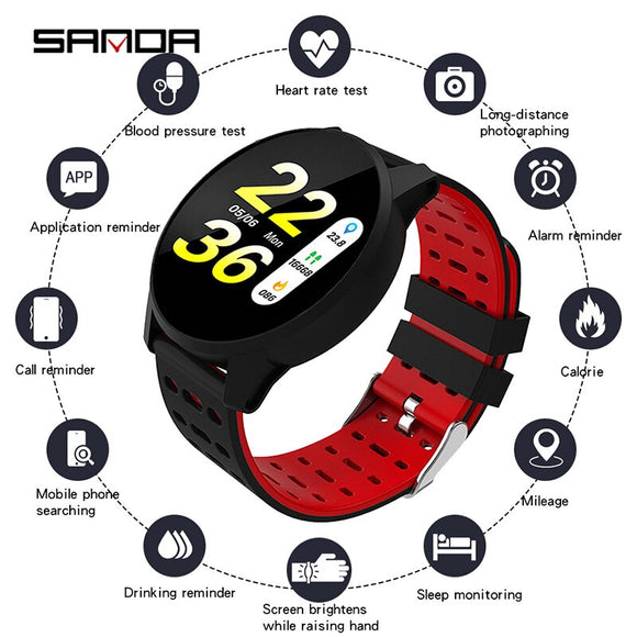 SANDA Hot Sell B2 Smart Watch Health Sleep Monitoring Movement Intelligent Bracelet Waterproof Alarm Clock Bluetooth Gift Watch