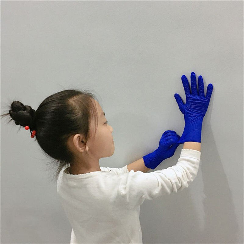 Lateefah 100PCS Children Disposable Nitrile Gloves Health Protection Rubber PVC Kids Gloves Child Household
