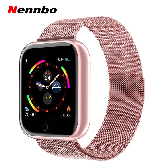 Nennbo New Bluetooth Smart Watch Women Men Smartwatch Heart Rate Blood Pressure Detection Sports Tracker For Apple IOS Android P