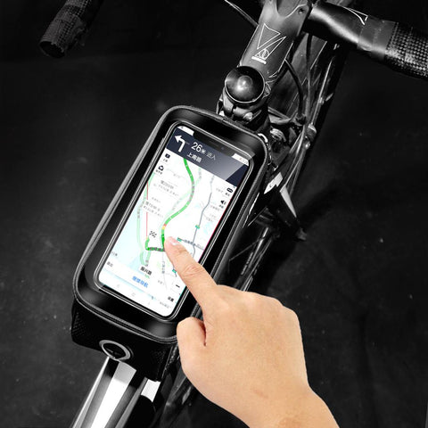 "WILD MAN Bicycle Bag Frame Front Top Tube Cycling Bag 6.2/"" Phone Touch Screen"