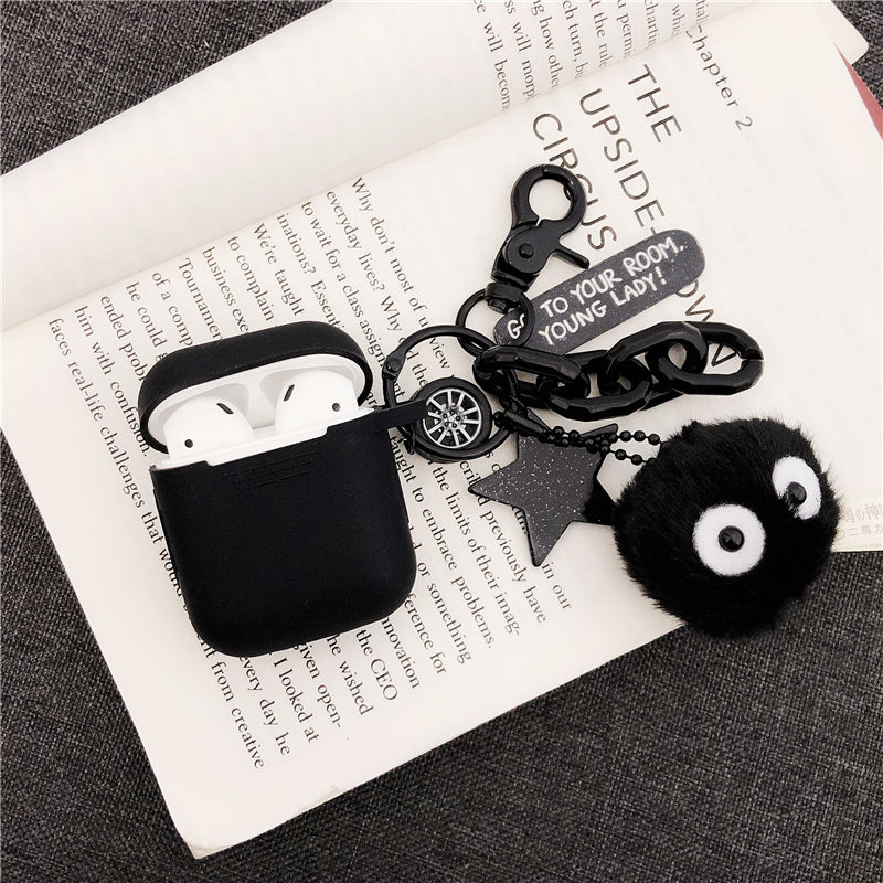 Ultra Thick Soft Silicone Finger Loop Bob Case for Apple Airpods 1 2 Protective Cartoon Anime Cute Lovely Fun Girls Boys