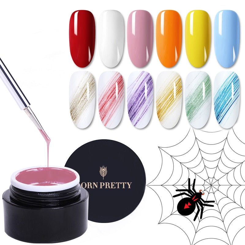 BORN PRETTY 5ml Spider Gel Nail Polish Micro-carving Glittering Painting Nail Art UV Gel  Soak Off Wire Drawing varnish Varnish