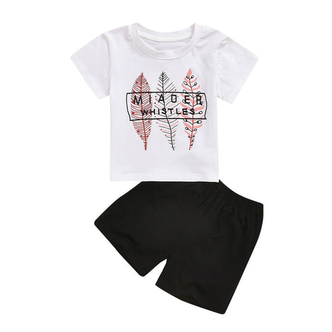 1-6Years,SO-buts Toddler Baby Boys Summer Clothes Cartoon Car Printed Letter Tops T-Shirt+Shorts Outfits Set