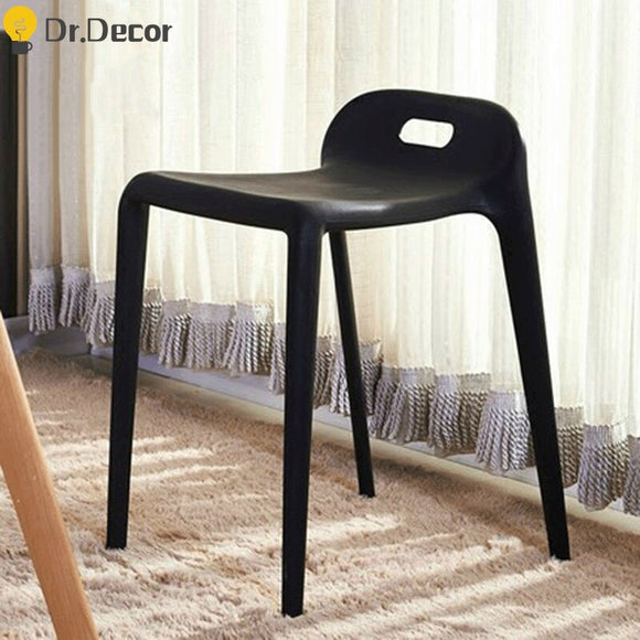 Nordic Minimalism Plastic Stool Dining Chairs Modern Restaurant Dining Rooms Furniture Living Room Bedroom Plastic Dining Stool