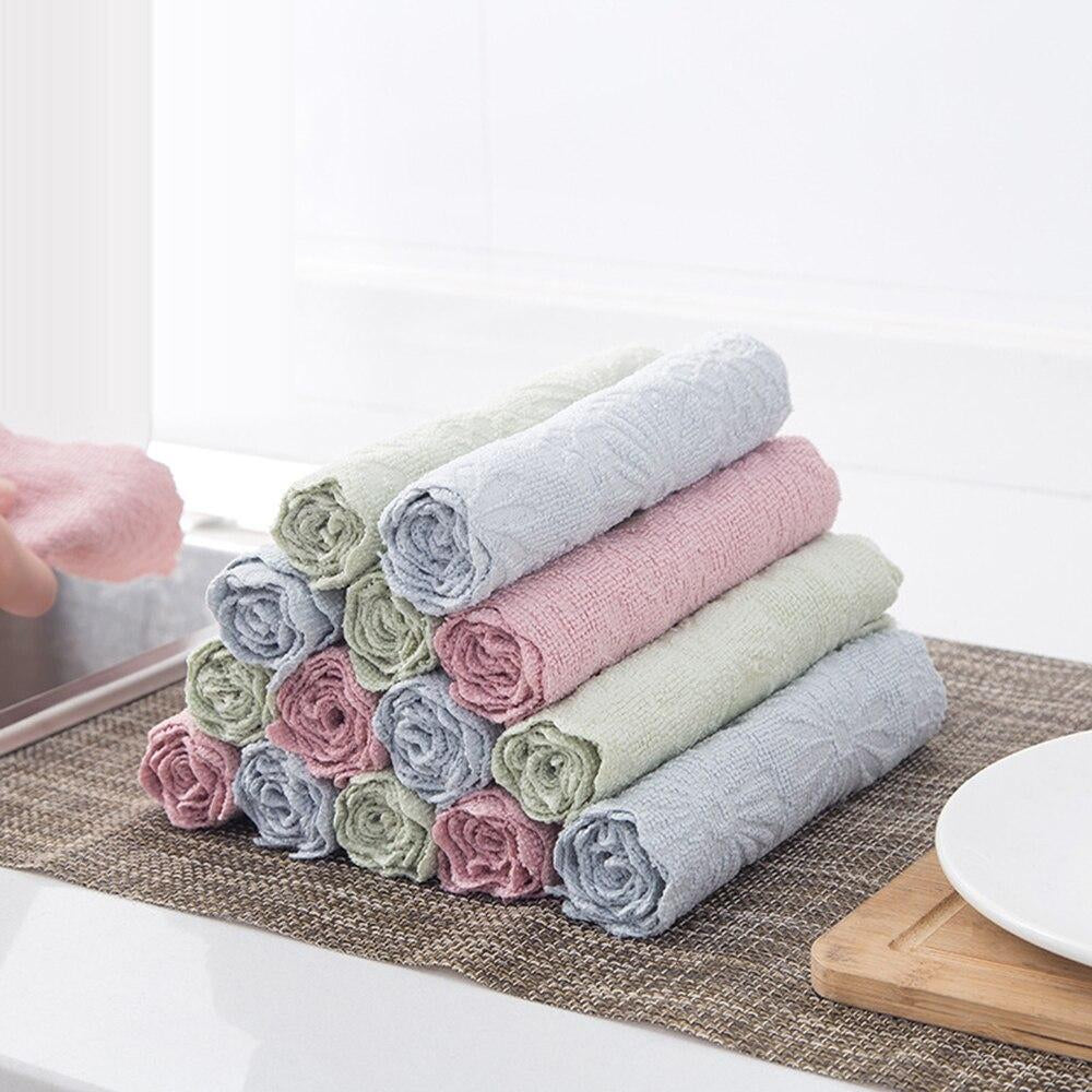 Household Printing Cleaning Cloth Kitchen High Quality Non-stick Oil Cleaning Towel Health Does Not Hurt Hand Cleaning Tools