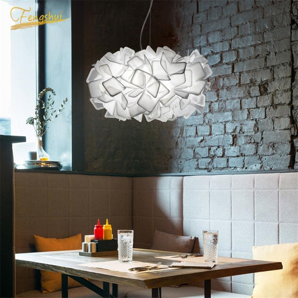 Modern Creative LED Pendant Lamp Nordic Gradient Fabric Decoration Pendant Lights Bedroom Dining Room Living Room Hanging Lamp