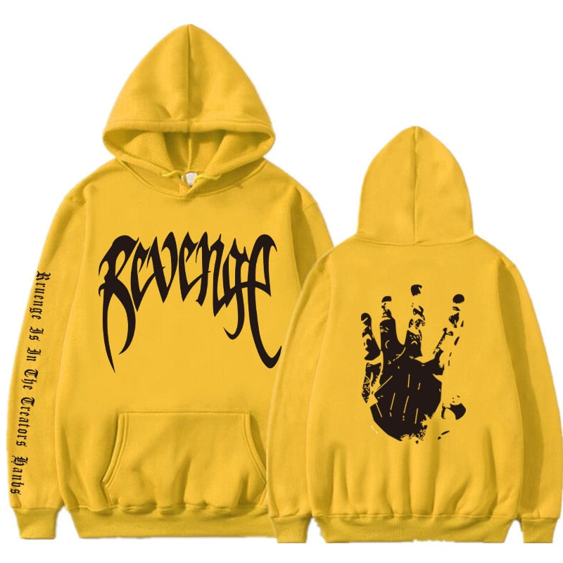 Xxxtentacion Revenge Hoodies Men Women Sweatshirts Rapper Hip hop Hooded Pullover Sweatshirts Autumn winter Clothed Hoodie Men