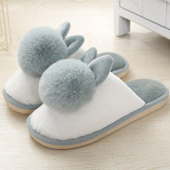 Winter Women's Slippers Warm Velvet Fur Slippers Soft Suede Indoor Slippers Cute Cartoon Non Slip Shoes for Women