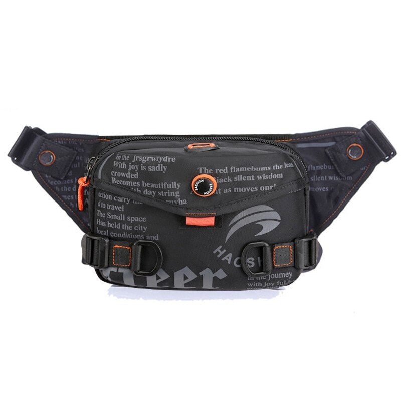 Waterproof Waist Bag For Men Fanny Pack Fashion Outdoor Sports Crossbody Bags Chest Bag Travel Belt Waist Pack Phone Pouch