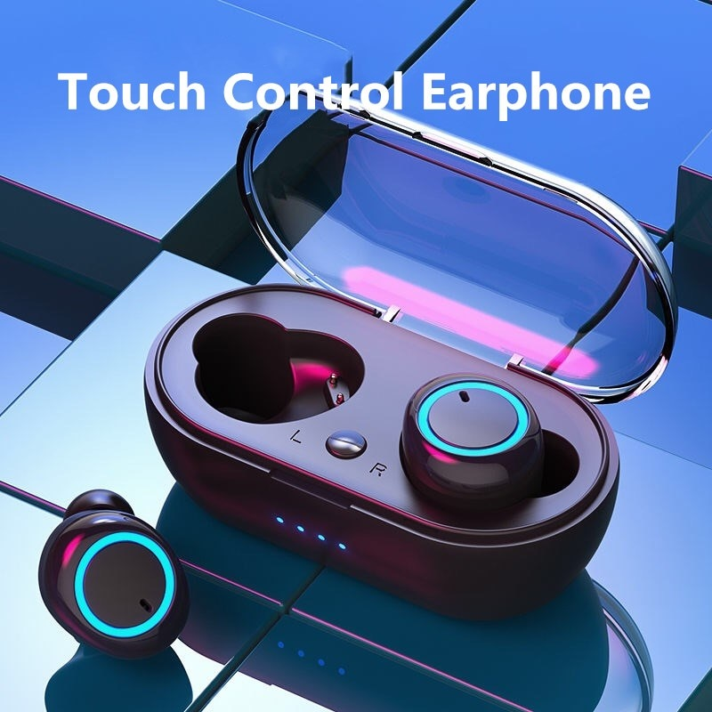 Bluetooth Earphone V5.0 TWS Touch Control Stereo Sport Wireless Headset Noise Reduction Earbud With Power Bank For Huawei Xiaomi
