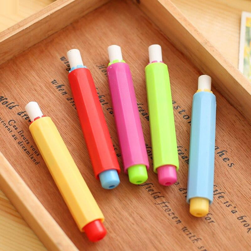 5 pcs/lot Health Non-toxic Chalk Holder Chalk Clip Dustless Chalk Holders for Teacher Porta Tiza On Blackboard Sticker