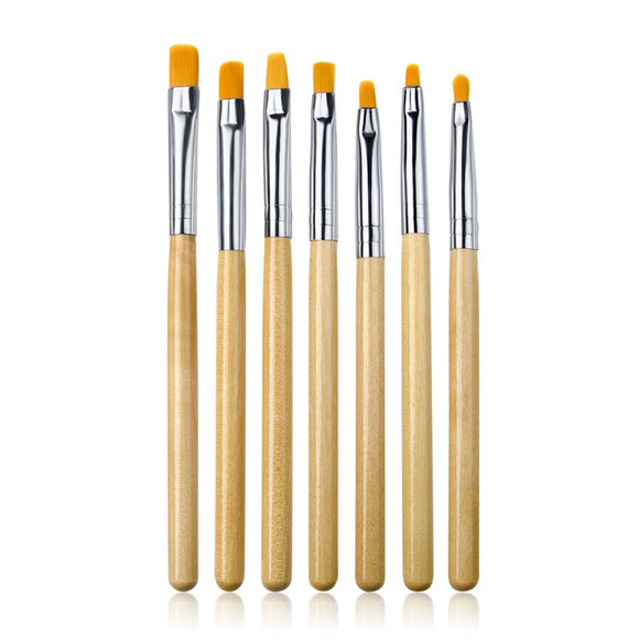 RBAN NAIL 1 Set Wooden Nail Brush Acrylic Brush UV Gel Extension Builder Polish Drawing Painting Brush Pen Manicure Tools