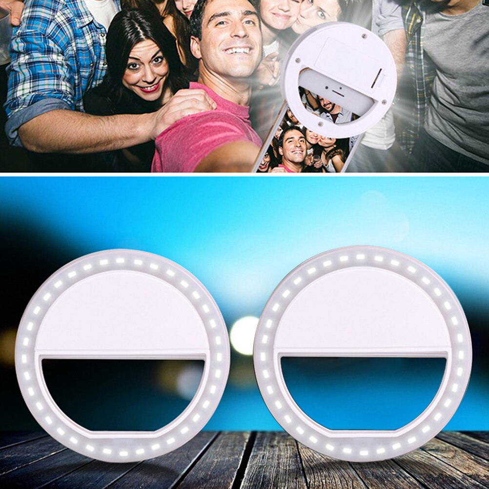 Usb Charging Selfie Ring Led Phone Light Lamp Mobile Phone Lens LED Sefie Lamp Ring Flash Lenses for Iphone Samsung