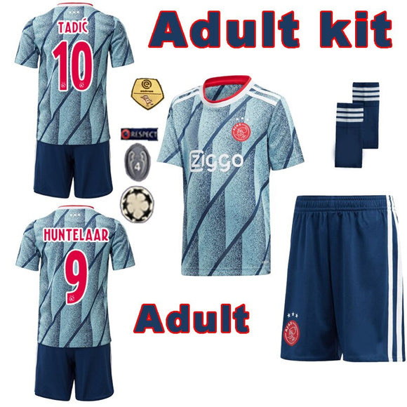 NEW arrive ajaxed Soccer Jerseys adult set 20 2021 Football Shirts TADIC ZIYECH VAN BEEK Promes tenue Jersey fast 10 day arrive