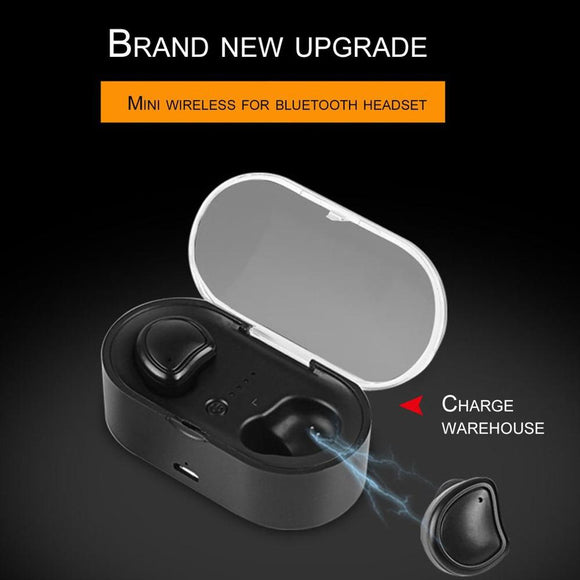 Wireless Headset Double Ear With Charging Case Headset With Digital Display Headphones Stereo Sports In-ear Earbuds