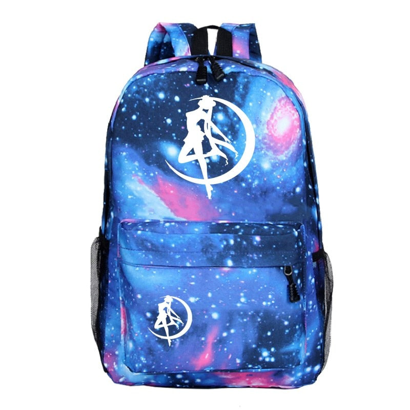 Sailor Moon Backpack Anime School Bags for Teenage Girls Boys Galaxy Daily Backpack Travel Shoulder Bags Luminous Book Bag
