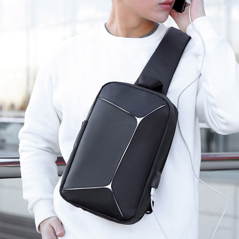 NEW Men Chest Bag Shoulder Crossbody Bag Waterproof Large Capacity for Mobile Phone