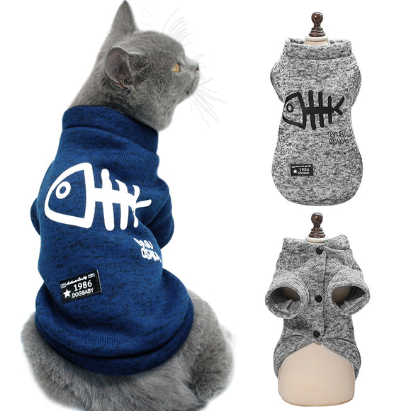 Winter Cat Clothes Small Dogs Jacket Coat Warm Pet Cat Clothing Dog Puppy Clothes Sweater for Pug French Bulldog ropa para gato