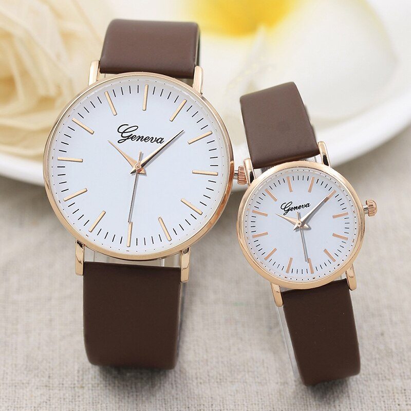 White Couple Watch Fashion Gold Strip Scale Lover Watches Trend Casual Men Women Valentine's Day Gift Birthday amante de relojes