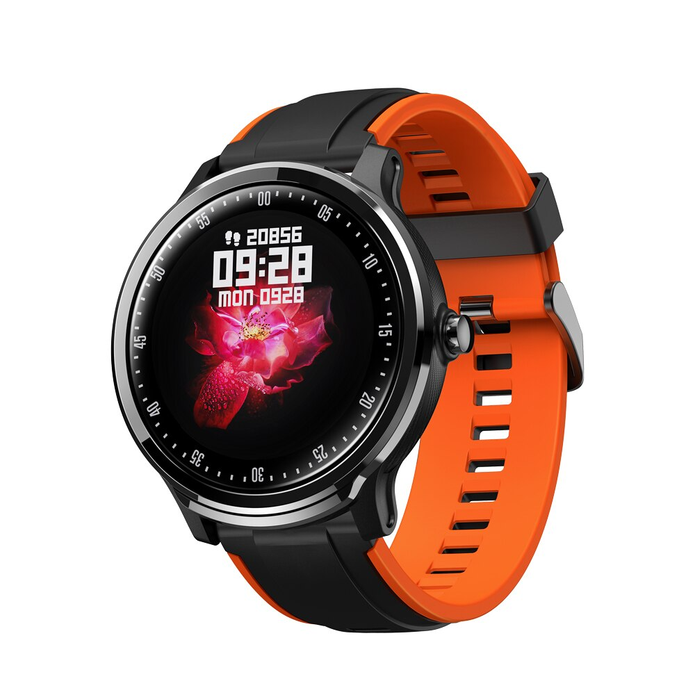 IMIDO 1.3 inch Full touch round screen Smart watch Waterproof Blood Oxygen Men Sport Business Watch For Android IOS Smart Phone